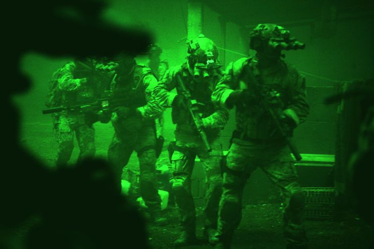 SEAL Team Six make their move in eerie nightvision.
