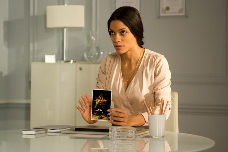 Dr Elizabeth Lamb (Rosario Dawson) has some things to show you