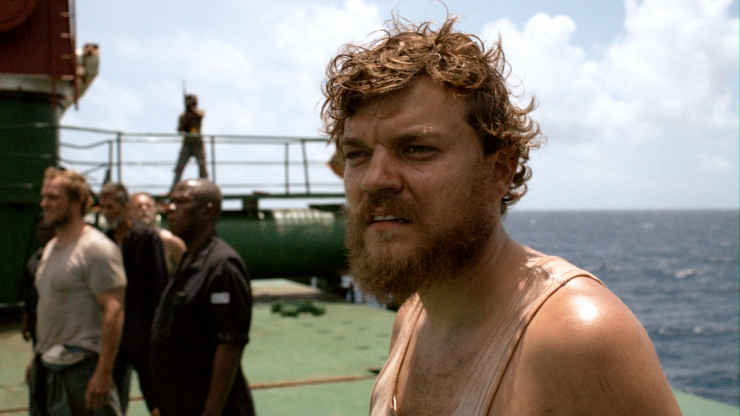 Danish cook Mikkel (Pilou Asbæk) looks out over uncharted waters