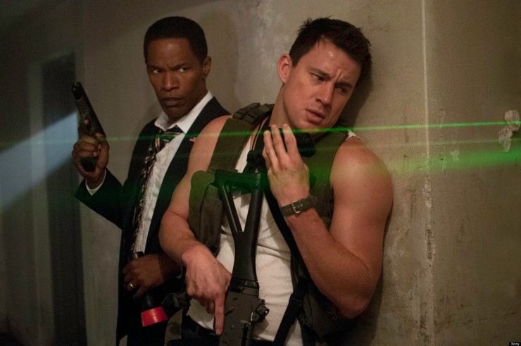 Cale (Channing Tatum) helps President James Walker (Jamie Foxx) out of a tight spot