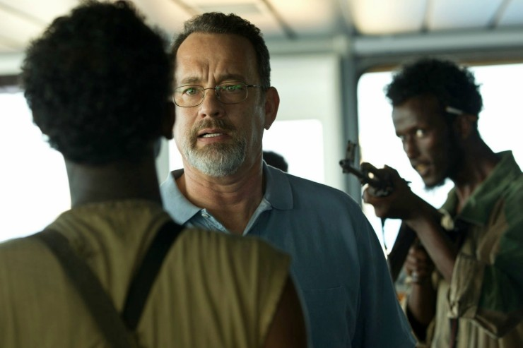 Captain Richard Phillips (Tom Hanks) finds himself in a tight spot