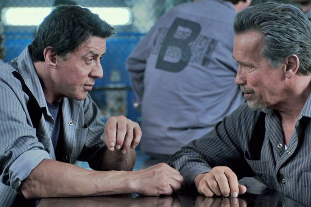 Breslin (Sylvester Stallone) and Rottmayer (Arnold Schwarzenegger) hatch an... well, you figure it out