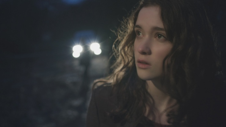 Lucy (Alice Englert) goes out in the woods. At night. Do you see where she went wrong?