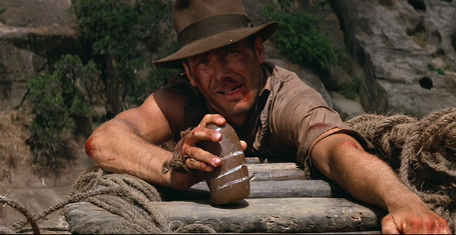 Indiana Jones (Harrison Ford) strives hard for fortune and glory