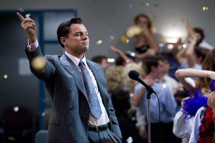 Jordan Belfort (Leonard DiCaprio) is a silver-tongued rogue trader